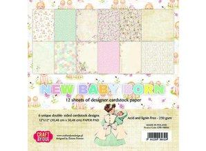 "DESIGNER BLÖCKE  / DESIGNER PAPER Designer Block, 30,5 x 30,5 cm, ""New Born Baby"""