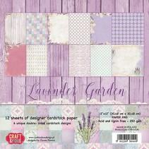 "Designerblock, 30,5 x 30,5cm, "" Lavender Garden"""