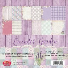 "DESIGNER BLÖCKE  / DESIGNER PAPER Designer Block, 30.5 x 30.5cm, ""Lavender Garden"""