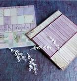 "DESIGNER BLÖCKE  / DESIGNER PAPER Designerblock, 30,5 x 30,5cm, "" Lavender Garden"""