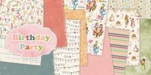 "DESIGNER BLÖCKE  / DESIGNER PAPER Designer Block, 30.5 x 30.5cm, ""Birthday Party"""