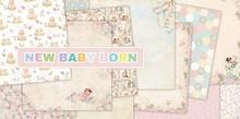 "DESIGNER BLÖCKE  / DESIGNER PAPER Designer Block, 30.5 x 30.5cm, ""New Born Baby"""