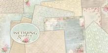 """DESIGNER BLÖCKE  / DESIGNER PAPER Designer Block, 30.5 x 30.5cm, """"Wedding Garden"""""""