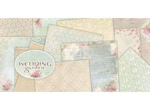 """DESIGNER BLÖCKE  / DESIGNER PAPER Designerblock, 30,5 x 30,5cm, """"Wedding Garden"""""""