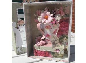 """Designer Papier Scrapbooking: 30,5 x 30,5 cm Papier Designersblock Vintage """"Tea Time"""", 30.5 x 30.5 cm"""