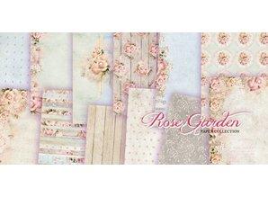 "DESIGNER BLÖCKE  / DESIGNER PAPER Designer Block, 30,5 x 30,5 cm, ""Rose Garden"""