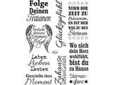 Viva Dekor und My paperworld Transparente Stempel: deutsche Text