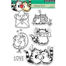 sello transparente: amor Critter