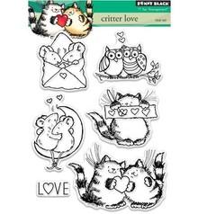 Penny Black Transparent stempel: Critter kærlighed