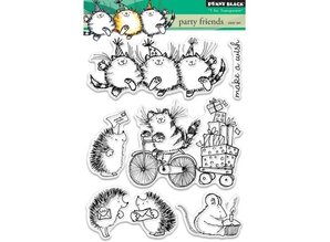 Penny Black Transparent stamp: Party friends