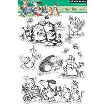 sello transparente: Critter Diversión