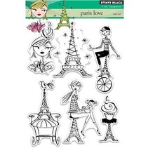 Transparent stamp: Paris love