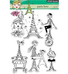 Penny Black Transparent stamp: Paris love