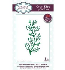 Creative Expressions Punching and embossing template: branch with berries