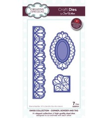 Creative Expressions Punching and embossing template: filigree corner, border and decorative frame