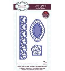 Creative Expressions Punzonatura e goffratura modello: angolo filigrana, bordo e cornice decorativa