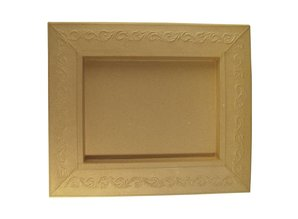 Objekten zum Dekorieren / objects for decorating Schadowbox, Setting: Ornament, rectangular, 31,5x37,5x2,5 cm