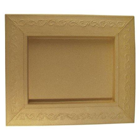 Objekten zum Dekorieren / objects for decorating Schadowbox, Indstilling: Ornament, rektangulære, 31,5x37,5x2,5 cm
