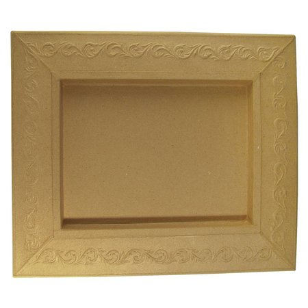 Objekten zum Dekorieren / objects for decorating Schadowbox, Rahmen: Ornament, rechteckig, 31,5x37,5x2,5 cm