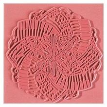 BASTELZUBEHÖR / CRAFT ACCESSORIES Texture mat, Musik, 90 x 90 mm, 1 stk