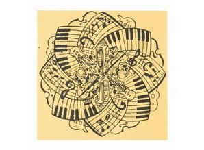 BASTELZUBEHÖR / CRAFT ACCESSORIES Texturmatte, Music, 90 x 90 mm, 1 Stück