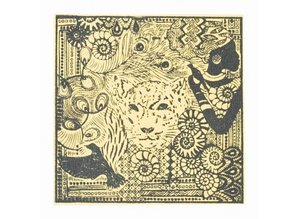 BASTELZUBEHÖR / CRAFT ACCESSORIES Texture mat, Africa, 90 x 90 mm, 1 piece