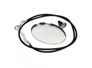 BASTELZUBEHÖR / CRAFT ACCESSORIES Collier con croce ovale, Schmuckband