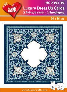 KARTEN und Zubehör / Cards 2 LUXURY DOUBLE SHOW + 2 ENVELOPES