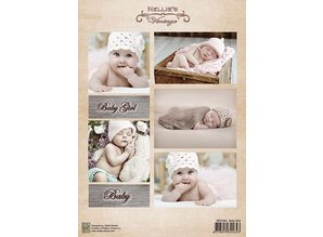 Nellie snellen Decoupage sheet vintage, baby girls