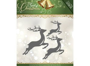 Precious Marieke Punching and embossing template: 3 Reindeers