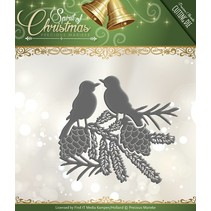 Punching and embossing template: Birds