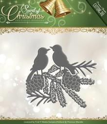 Precious Marieke Troquelado y estampado en relieve plantilla: Aves