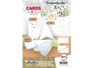 KARTEN und Zubehör / Cards Book with 8 pre-cut cards BLANCO