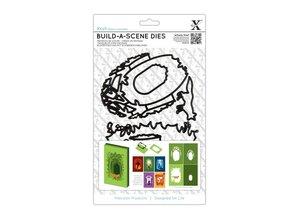 X-Cut / Docrafts Skæring og prægning stencil til en Shadow Box Card, Skov