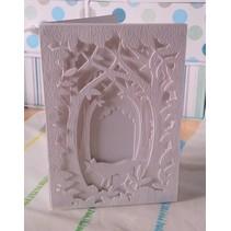 Corte y cliché de estampado para una tarjeta de la caja Sombra, Bosque