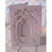 Cutting and embossing stencil for a Shadow Box Card, Forest