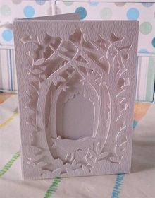 X-Cut / Docrafts Corte y cliché de estampado para una tarjeta de la caja Sombra, Bosque