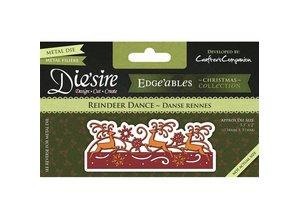 Die'sire Stamping and embossing stencil of Diesire, border with reindeer