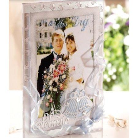 Die'sire Stanz- und Prägeschablone von Diesire, Hochzeitsglocke + Herzecken