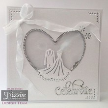 Die'sire Stamping and embossing stencil of Diesire, wedding couple
