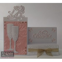 Stamping and embossing stencil of Diesire, noble shoes