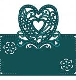 Die'sire Stanz- und Prägeschablone von Diesire, Herz, Blumen und Ecken
