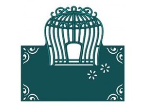 Die'sire Stempling og prægning stencil af Diesire, Elegant Birdcage