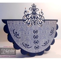 Stamping and embossing stencil of Diesire, Classic Chandelier