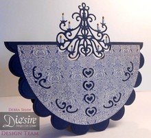 Die'sire Stamping and embossing stencil of Diesire, Classic Chandelier