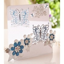 Stamping and embossing stencil of Diesire, butterfly love