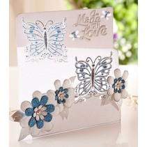Stanz- und Prägeschablone von Diesire, Schmetterling Liebe