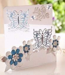 Die'sire Stampaggio e goffratura stencil di Diesire, amore farfalla