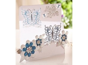 Die'sire Stamping and embossing stencil of Diesire, butterfly love