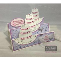 Stamping and embossing stencil of Diesire, cake, heart and corners